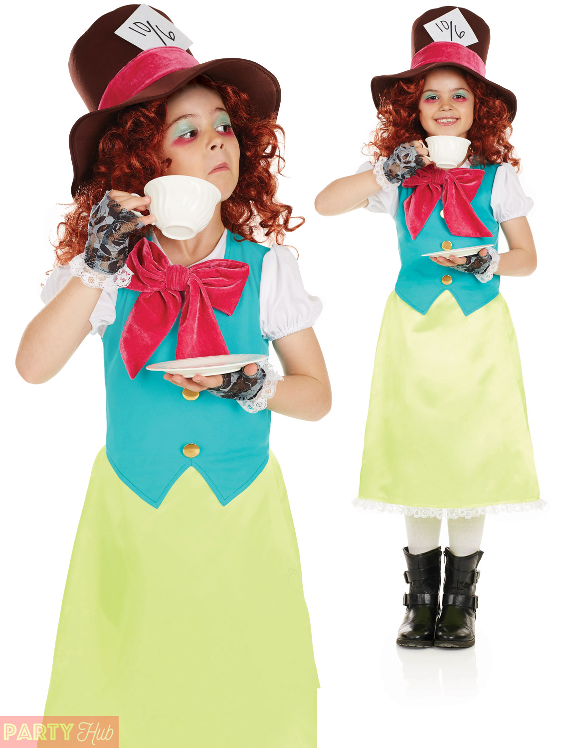 Girls-Mad-Hatter-Costume-Childs-Miss-Rabbit-Fancy-  sc 1 st  eBay : white rabit costume  - Germanpascual.Com