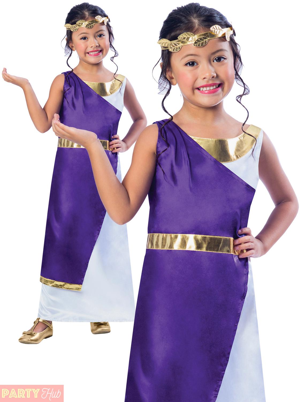 Girls Roman Fancy Dress Greek Grecian Goddess Book Week Kids ...