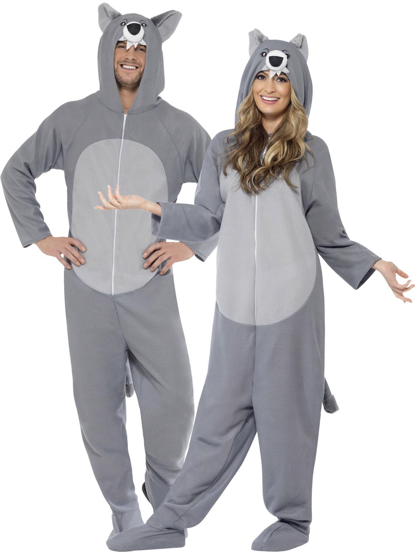 2b84b1d244e Details about Adult Wolf Costume Mens Werewolf Fancy Dress Ladies Halloween  Book Week Outfit