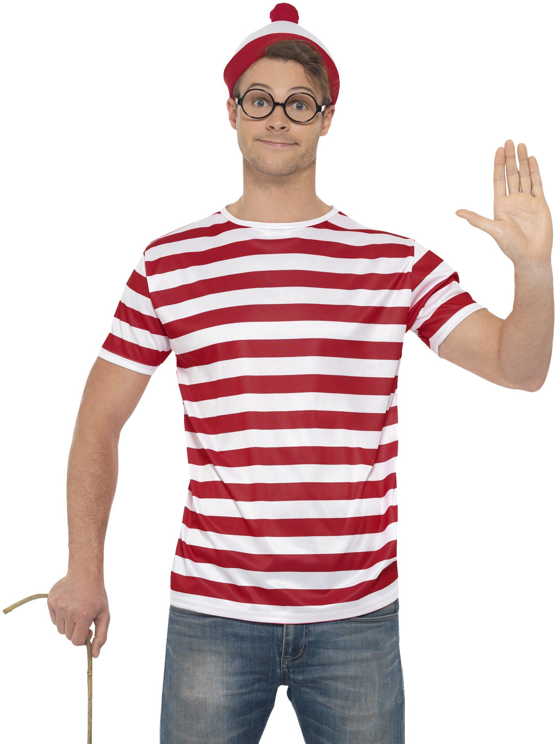 Mens wheres wally costume adult waldo instant fancy dress kit book transform yourself into one of your favourite book characters with this wheres wally costume ideal for a stag party or even book week solutioingenieria Gallery