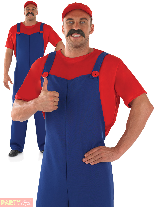 Mens Plumbers Mate Costume Adults Super Mario Luigi Fancy  sc 1 st  Meningrey & Super Mario Costume For Men - Meningrey