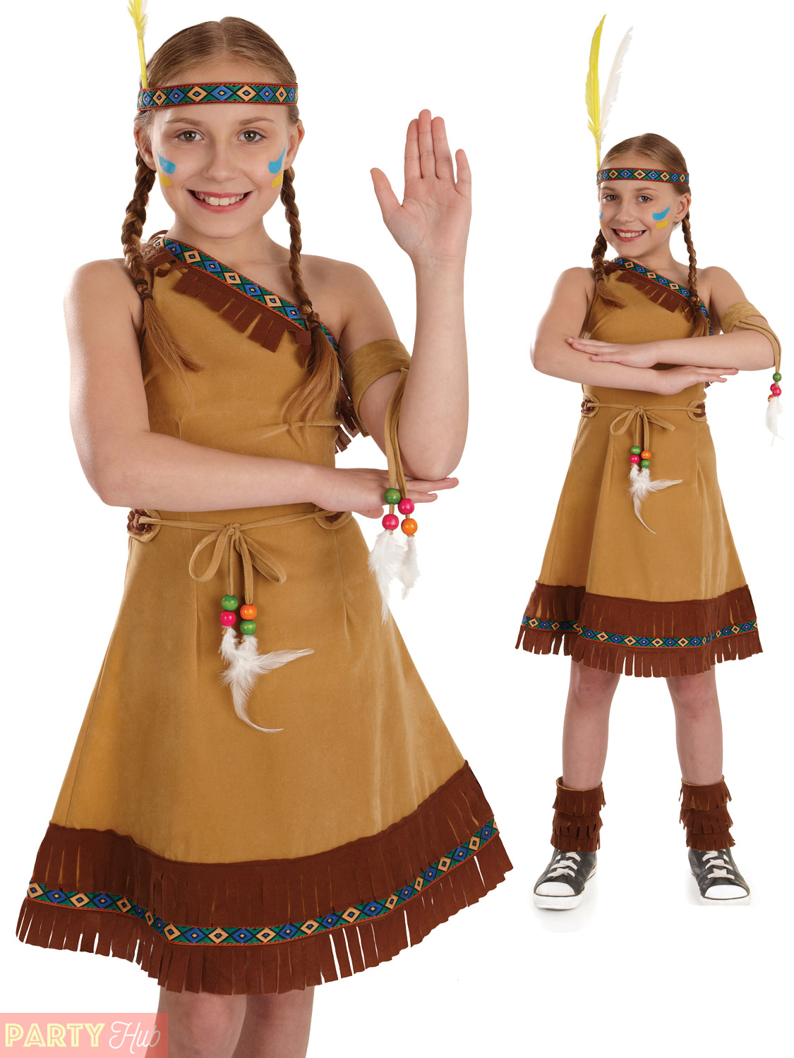 Childs-Indian-Squaw-Costume-Girls-Pocahontas-Fancy-Dress-  sc 1 st  eBay & Childs Indian Squaw Costume Girls Pocahontas Fancy Dress Kids Book ...