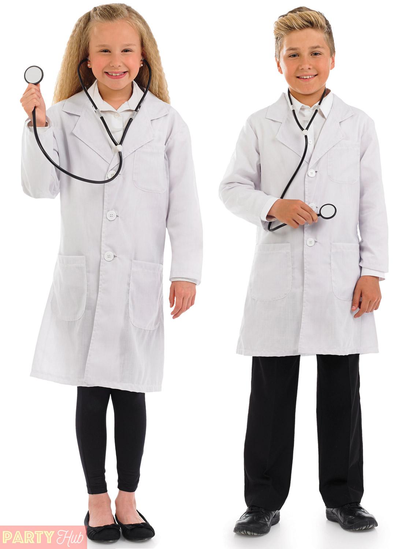 Childs-Doctor-Costume-Boys-Girls-Hospital-Surgeon-Fancy-  sc 1 st  eBay & Childs Doctor Costume Boys Girls Hospital Surgeon Fancy Dress Book ...