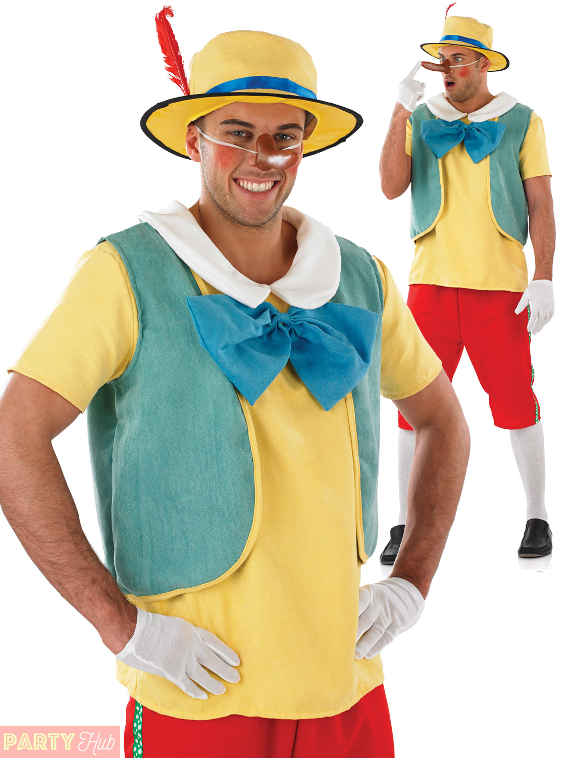 Mens Fairytale Puppet Costume Adults Pinocchio Fancy Dress Book Week ...