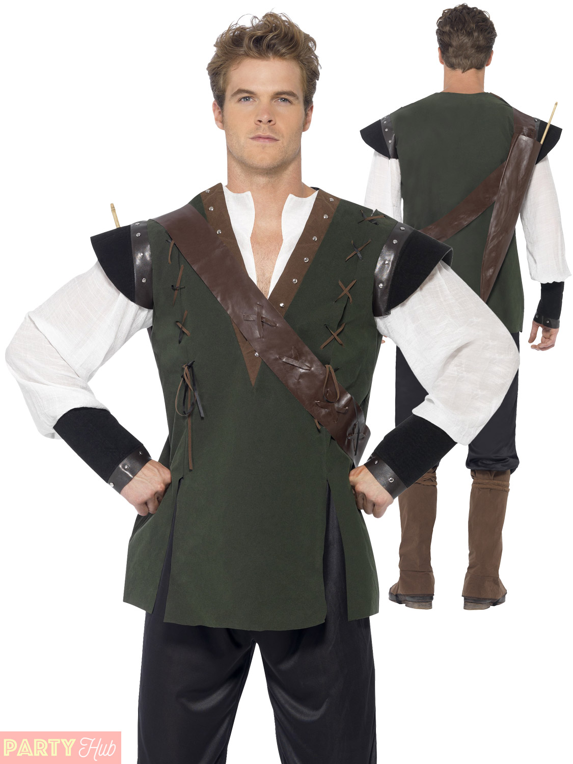 Mens-Robin-Hood-Costume-Adult-Medieval-Fancy-Dress-  sc 1 st  eBay & Mens Robin Hood Costume Adult Medieval Fancy Dress Prince of Thieves ...