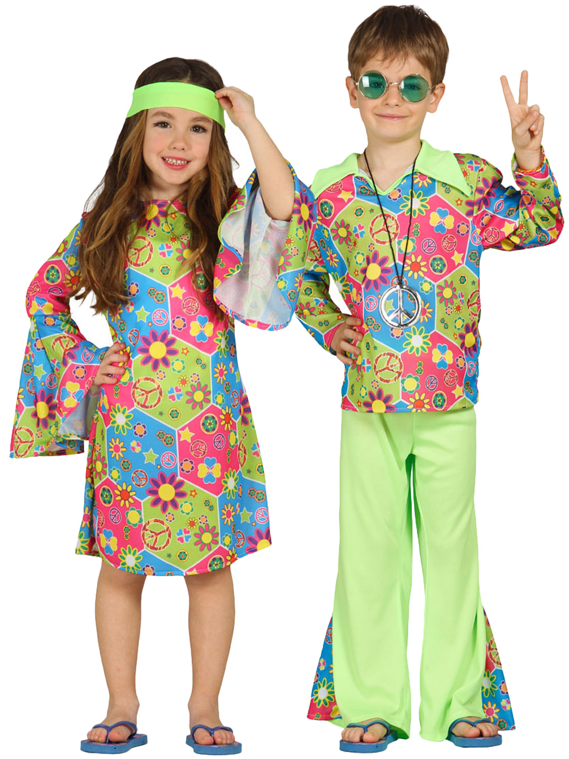Hippy Costume Boys Girls Hippie Fancy Dress Kids