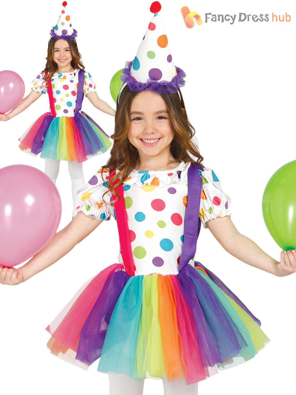 CLOWN BOYS GIRLS CHILD CIRCUS FUN BOOK WEEK FANCY DRESS HALLOWEEN PARTY COSTUME