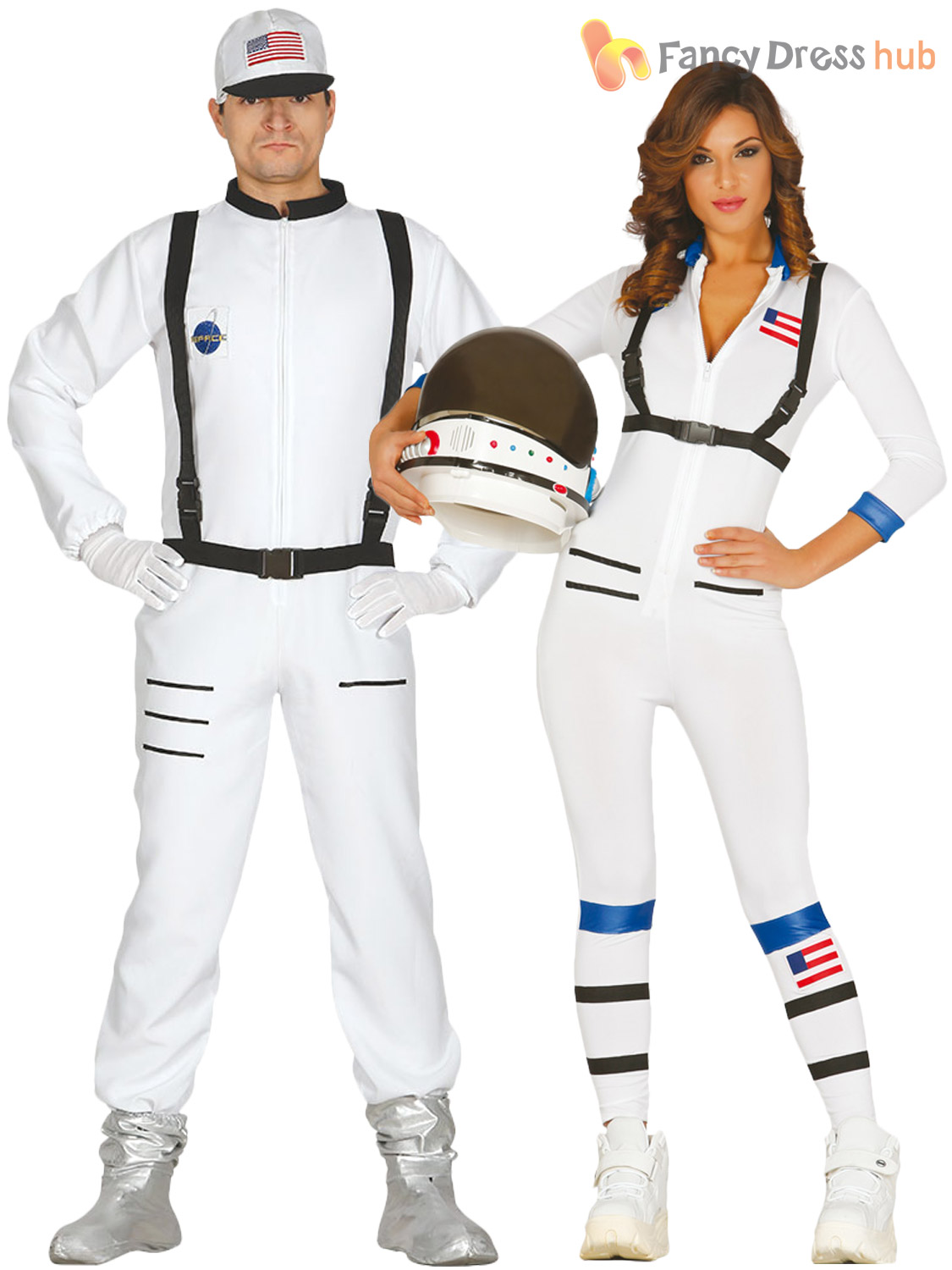 Adults-Astronaut-Costume-Mens-Ladies-Space-Man-Suit-Fancy-Dress-Womens-Outfit thumbnail 6