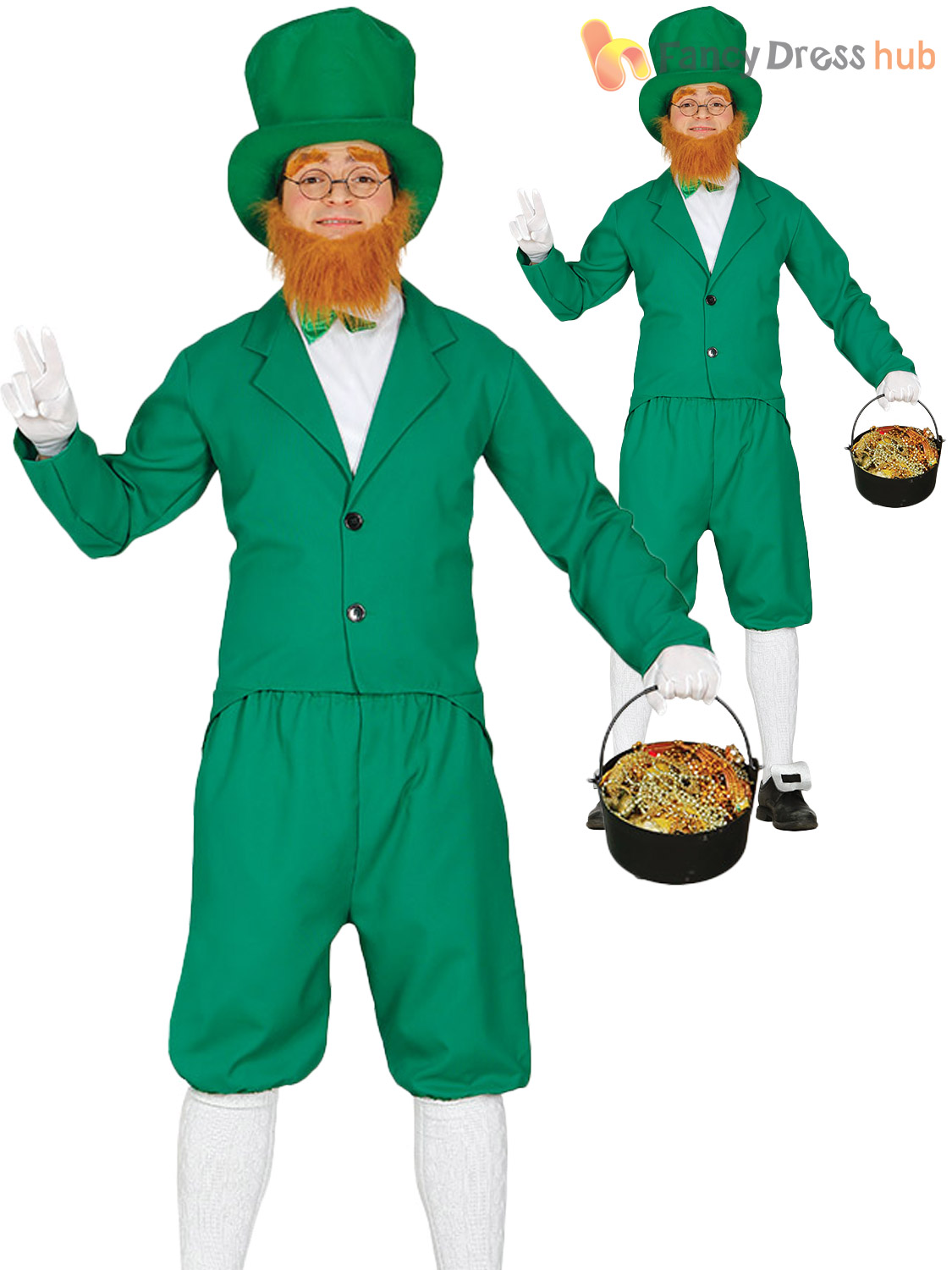 Mens-Leprechaun-Costume-Adults-St-Patricks-Day-Irish-