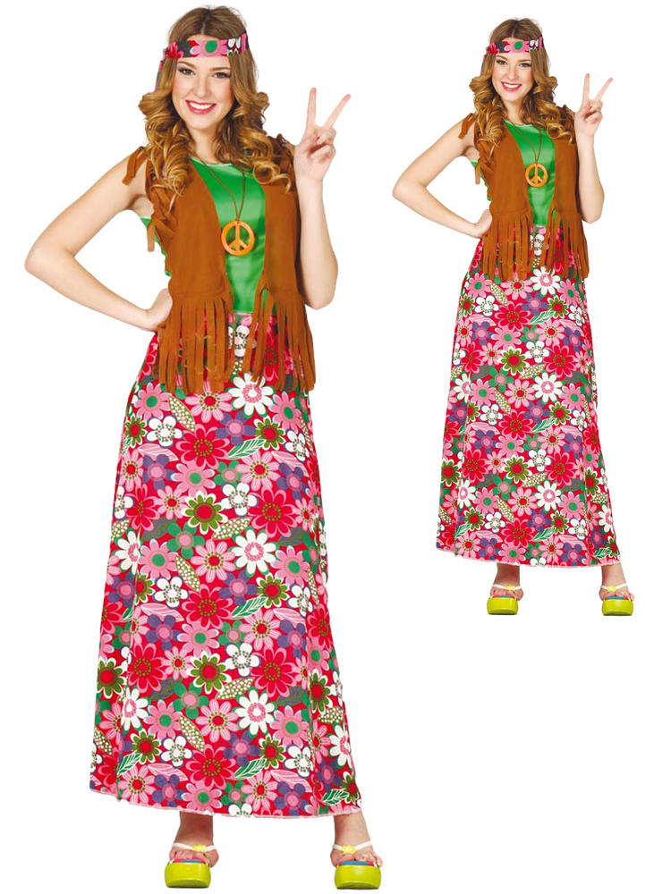 Ladies Long Hippy Costume