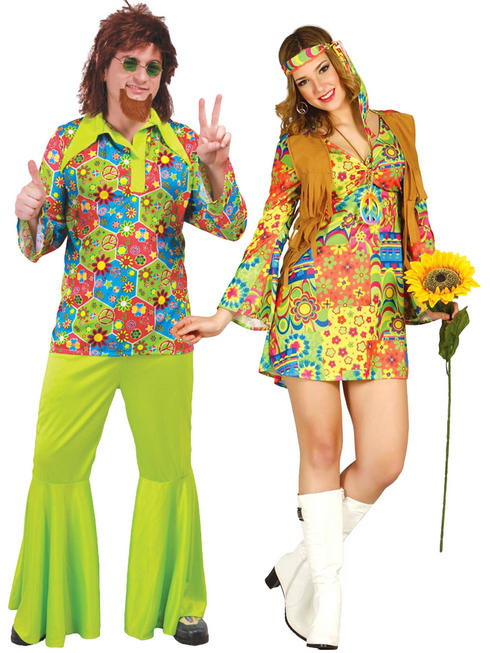 Adult's Flower Hippy Costume