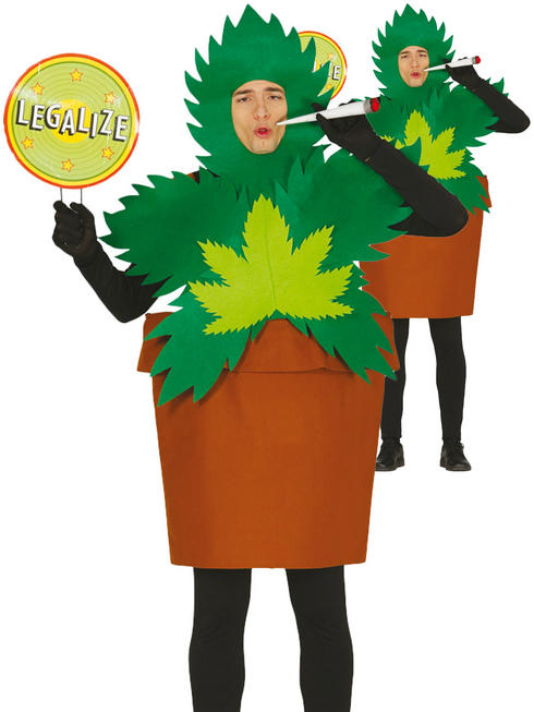 Mens Weed Plant Costume
