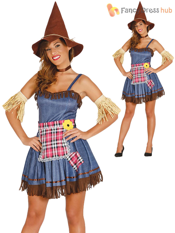Adults Scarecrow Costume Mens Ladies Oz Fancy Dress World ...
