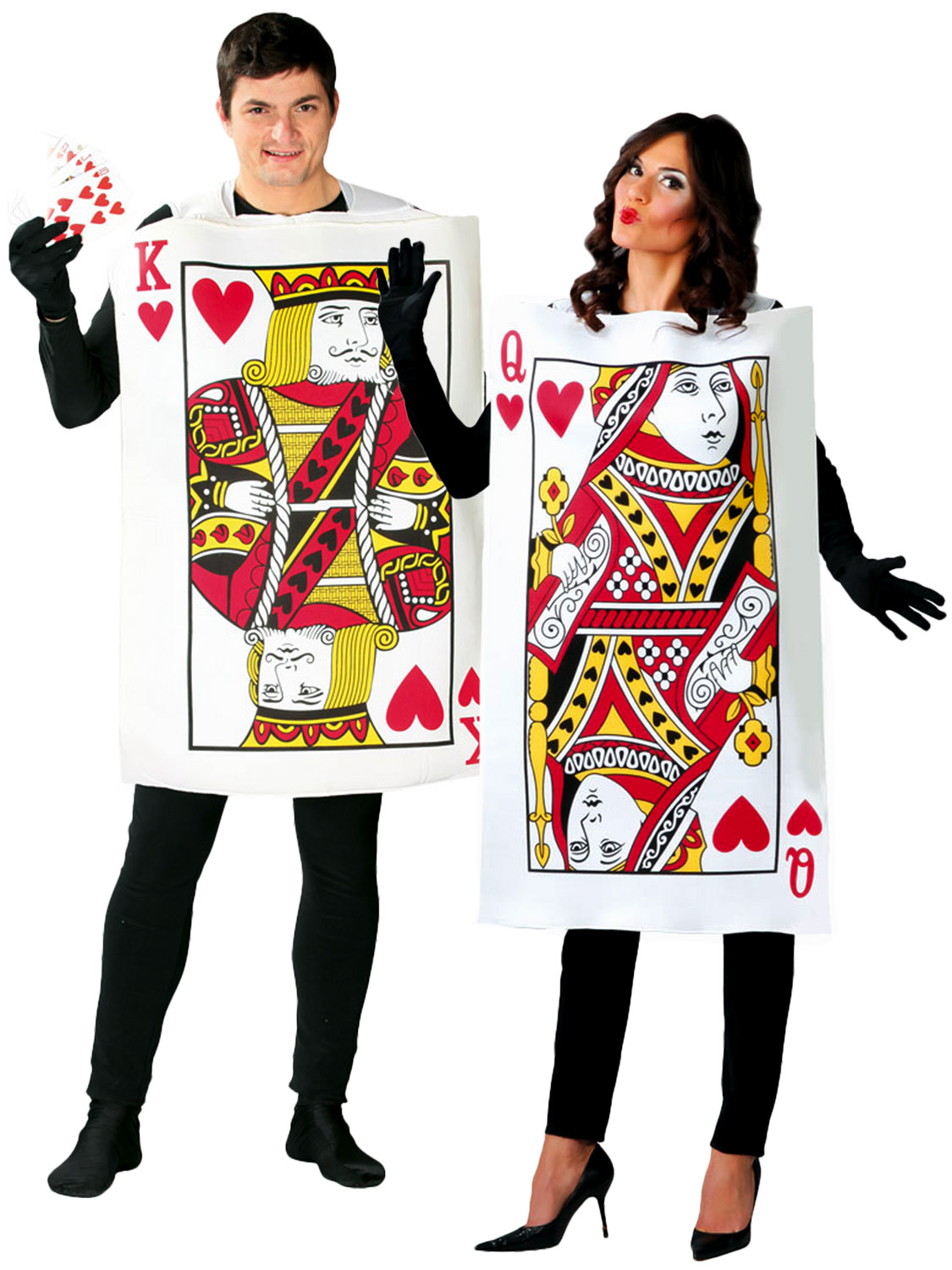 Adult king queen of hearts costume men ladies alice fairytale transform yourself into a pack of cards with either these adults king or queen of hearts costume ideal if you are dressing up for book week or having an solutioingenieria Image collections