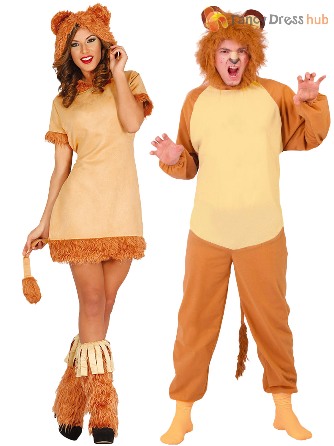 Adults-Lion-Costume-Mens-Ladies-Animal-Fancy-Dress-Jungle-Zoo-Book-Week-Outfit