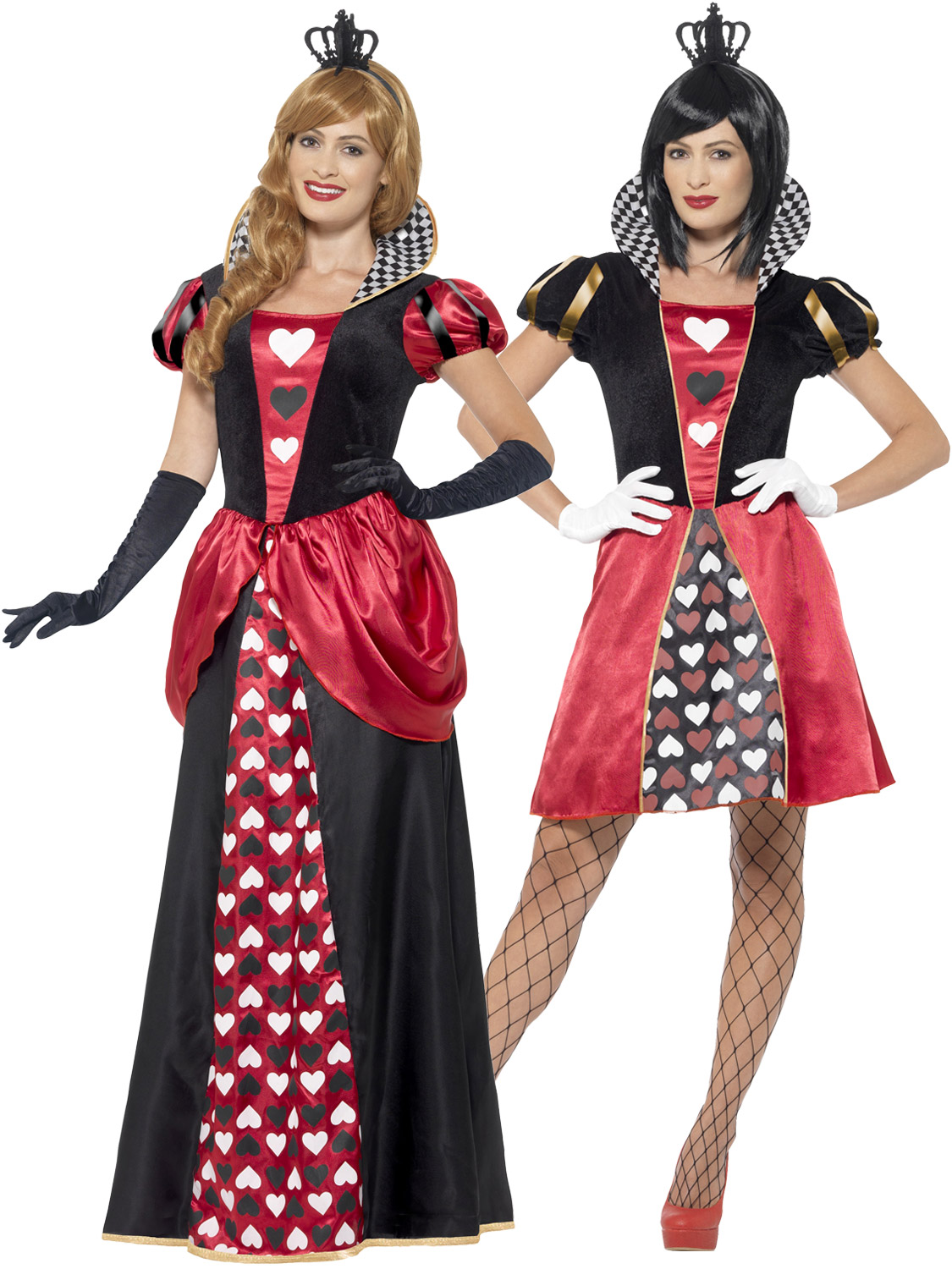 Ladies queen of hearts costume adult wonderland fancy dress outfit transform yourself into the queen of hearts from the well known book and film alice in wonderland solutioingenieria Images