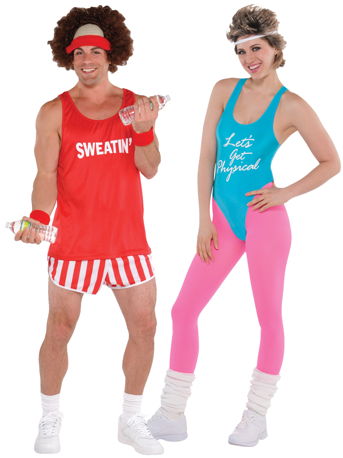 80s workout costume mens ladies exercise fitness