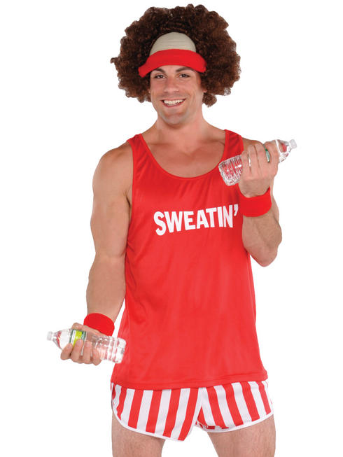 Mens 80S Exercise Maniac Costume