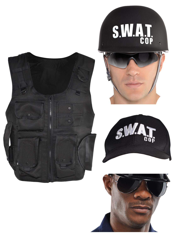 Adulto Uomo SWAT POLIZIA Baseball Cap Hat Costume accessorio Poliziotto Uniforme Nuovi
