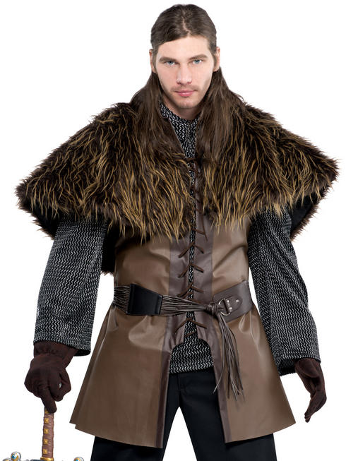 Mens Furry Shoulder Cape