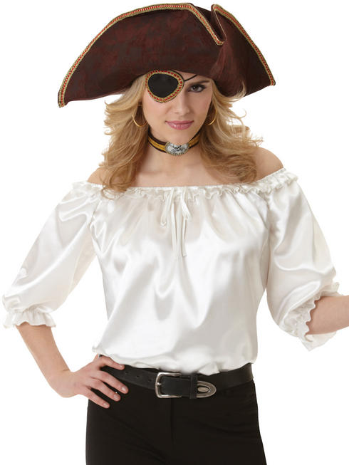 Ladies Pirate Ivory Blouse