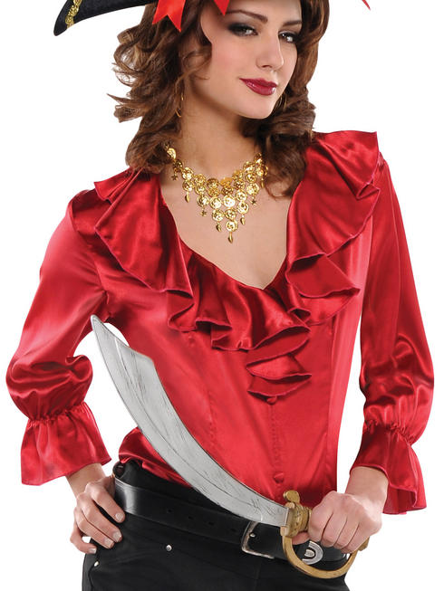 Ladies Pirate Red Blouse