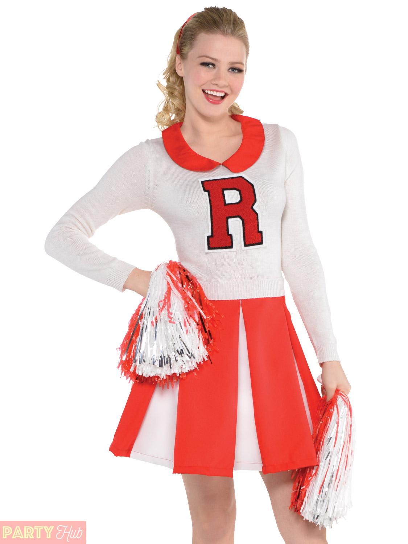 ... Picture 2 of 2  sc 1 st  eBay & Amscan 50s College Cheerleader Costume Ladies Adult Medium 10-12 | eBay