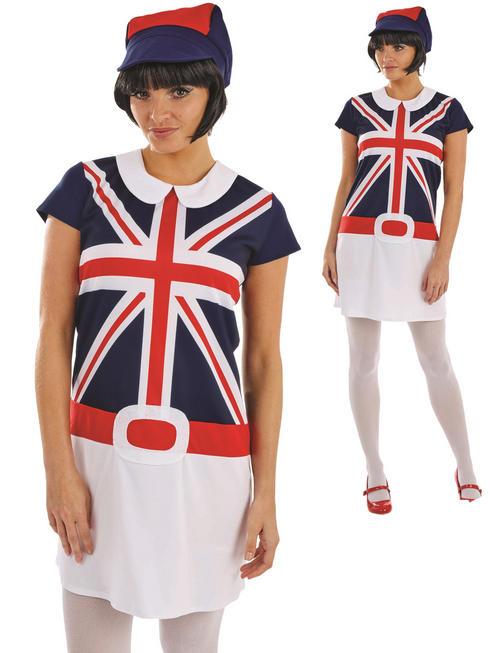 Ladies 60s Mod Girl Costume
