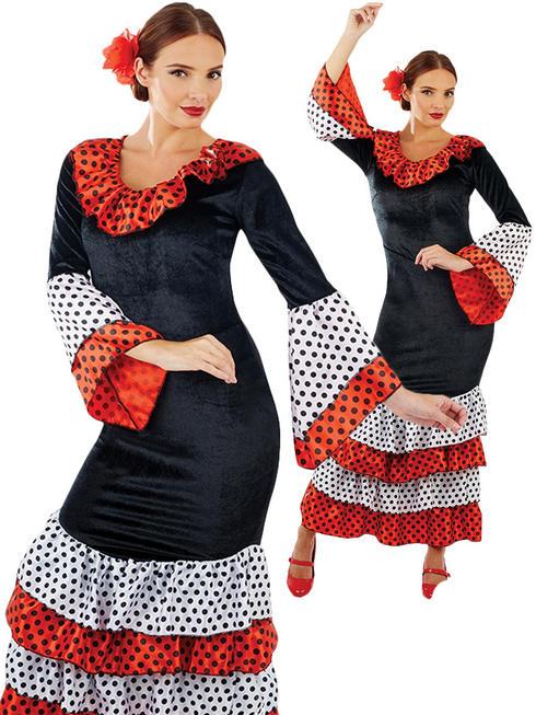 Ladies Flamenco Dancer Costume