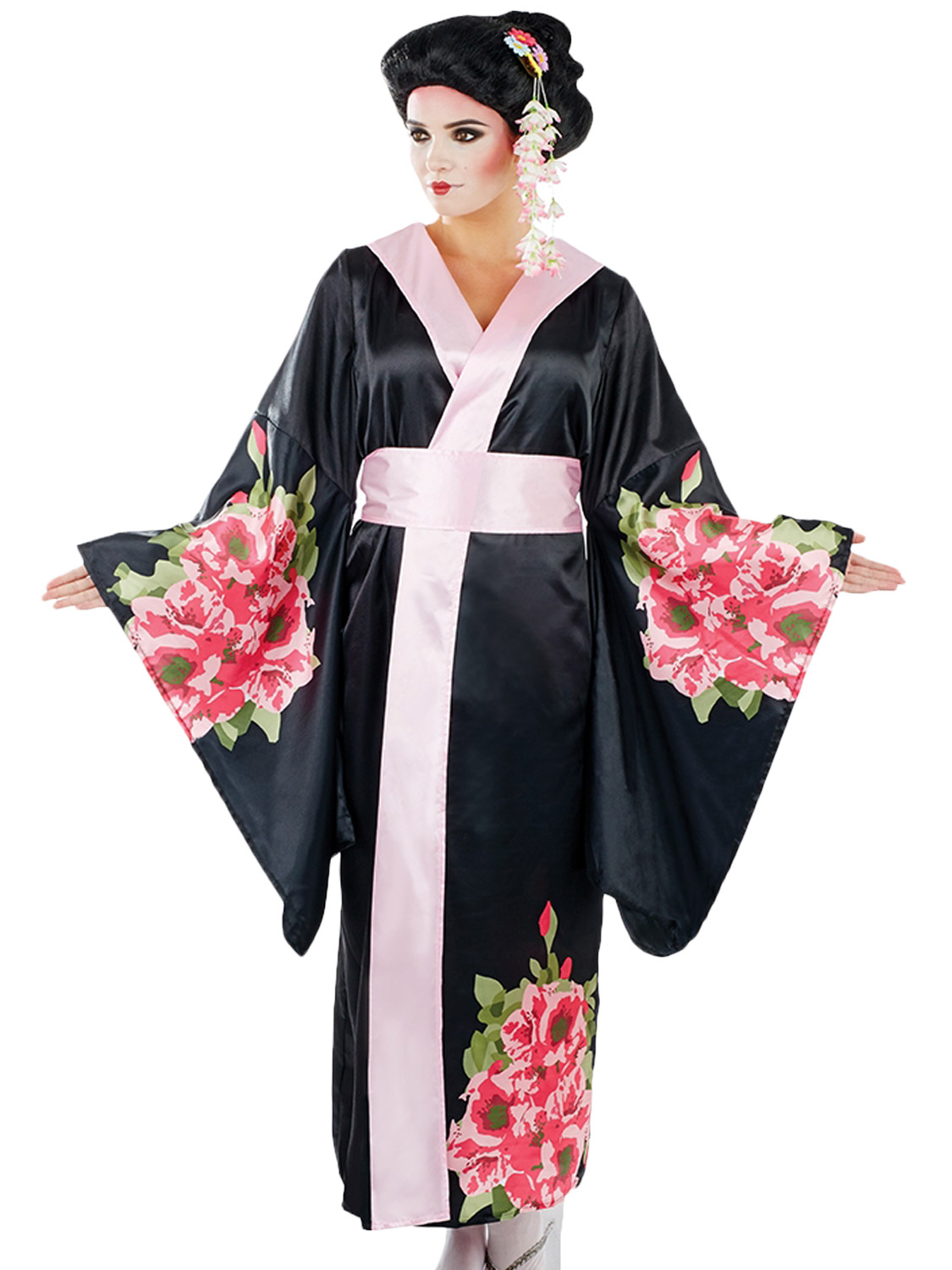 Ladies Geisha Costume Adults Japanese Fancy Dress Womens