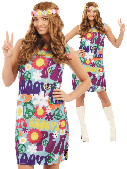 Ladies Groovy Hippie Costume