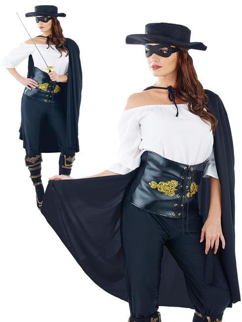 Ladies Masked Senorita Costume