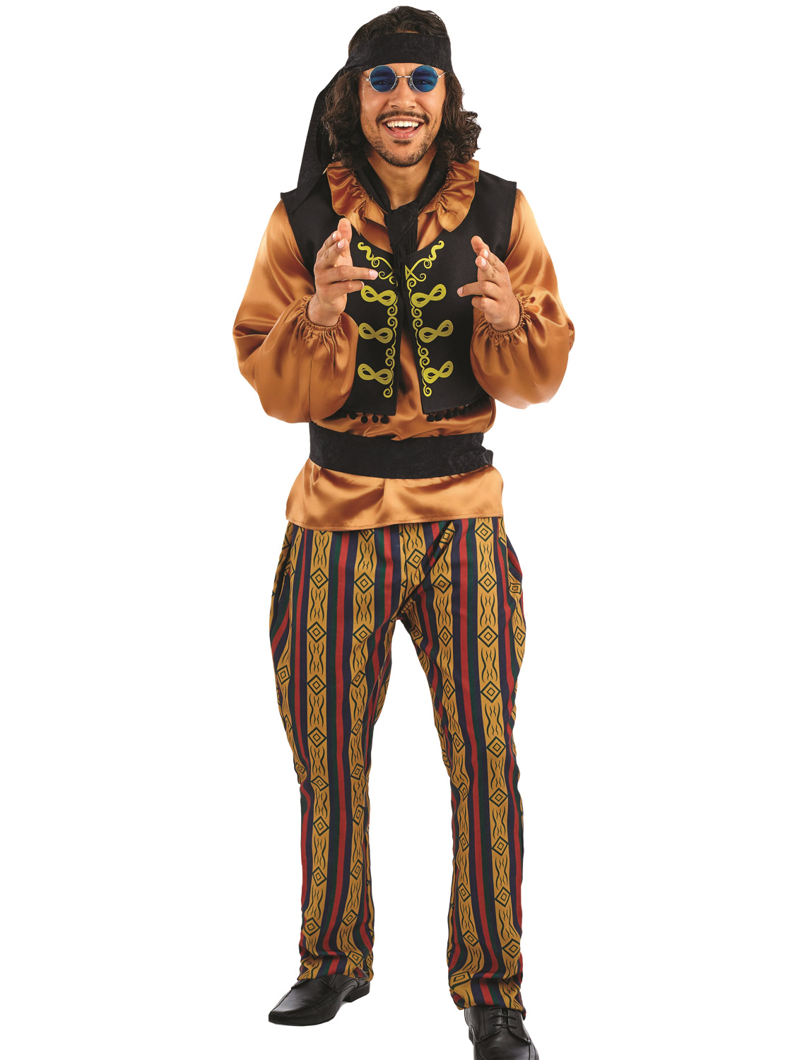 Mens 60s rock star costume adults rock n roll fancy dress mens image 3 solutioingenieria Image collections