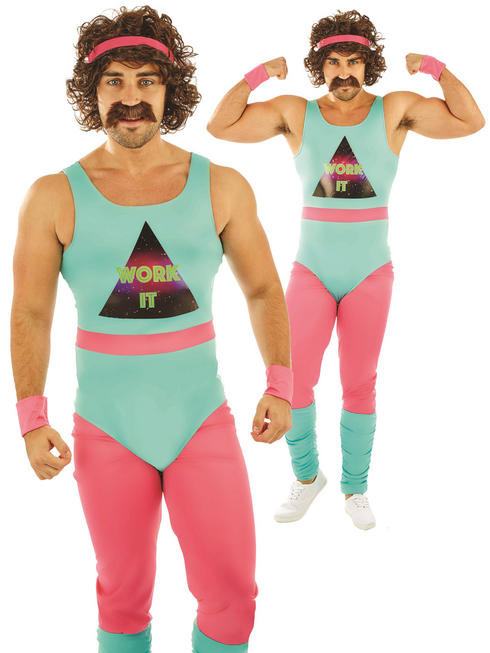 Men's 80s Fitness Instructor Costume