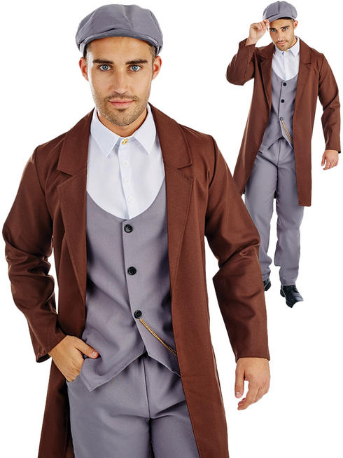 Men's Peaked Cap Gangster Costume