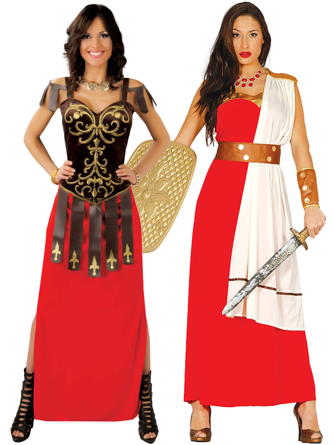 Ladies gladiator warrior costume adults spartan roman fancy dress transform yourself into a roman warrior with either this ladies tiberia costume or spartan outfit both perfect for a greek roman themed party solutioingenieria Choice Image