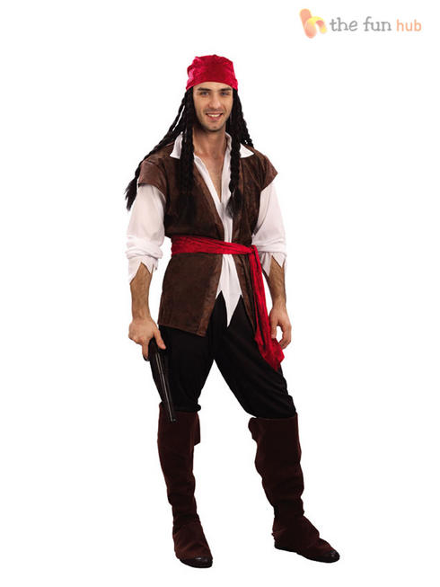 Men's Caribbean Pirate Costume