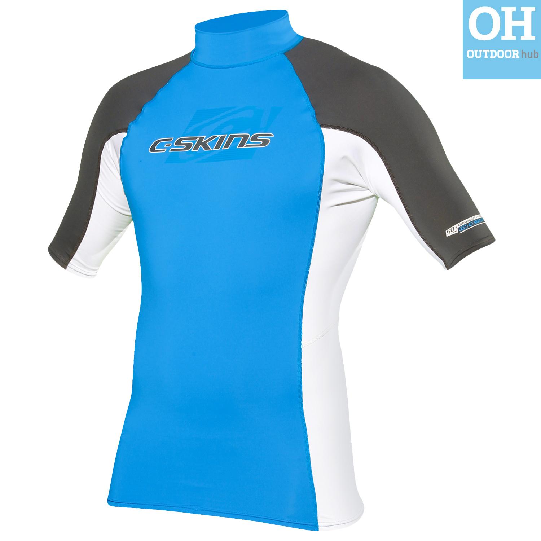 Boys-Girls-C-Skins-Rash-Vest-Guard-Short-Sleeve-Kids-UV-50-Protection-Swim-Top thumbnail 5