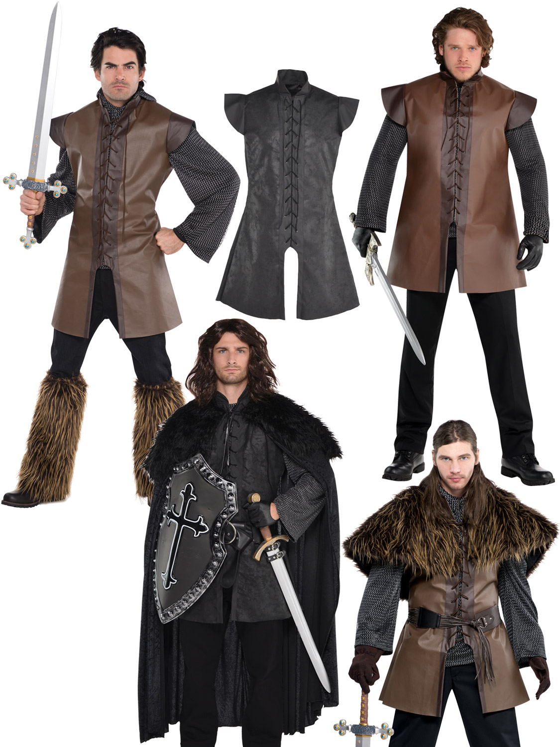 Mens game of thrones costumes adults warrior fancy dress tunic cloak transform yourself into a character from the popular tv series game of thrones ideal for a themed party or new years eve solutioingenieria Gallery
