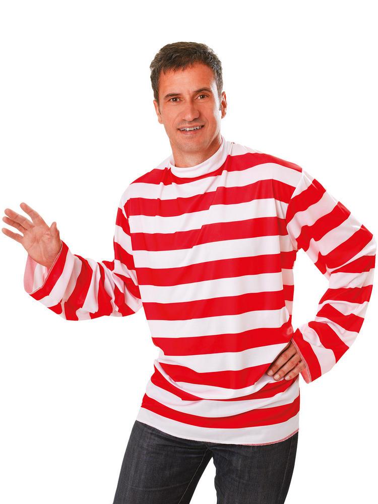 Men's Red & White Striped T-Shirt