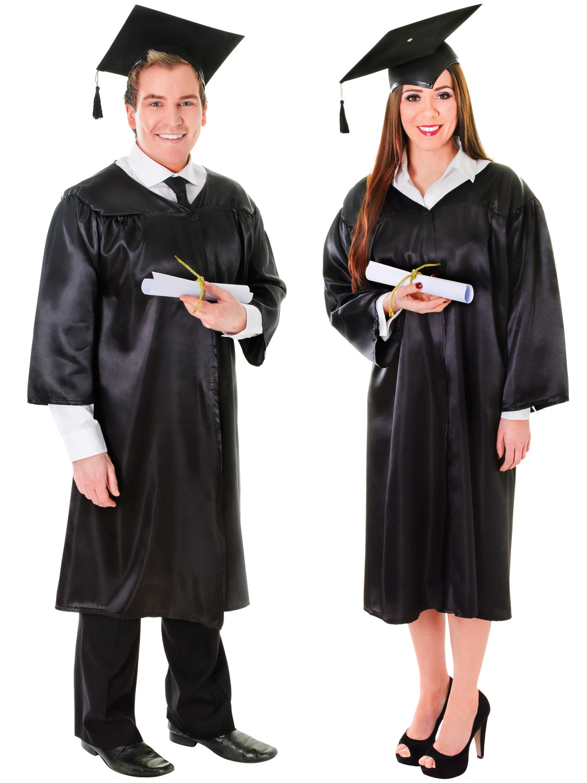17776ba9c Details about Adults Graduation Robe   Hat Costume Mens Ladies Student Gown  Robe Fancy Dress