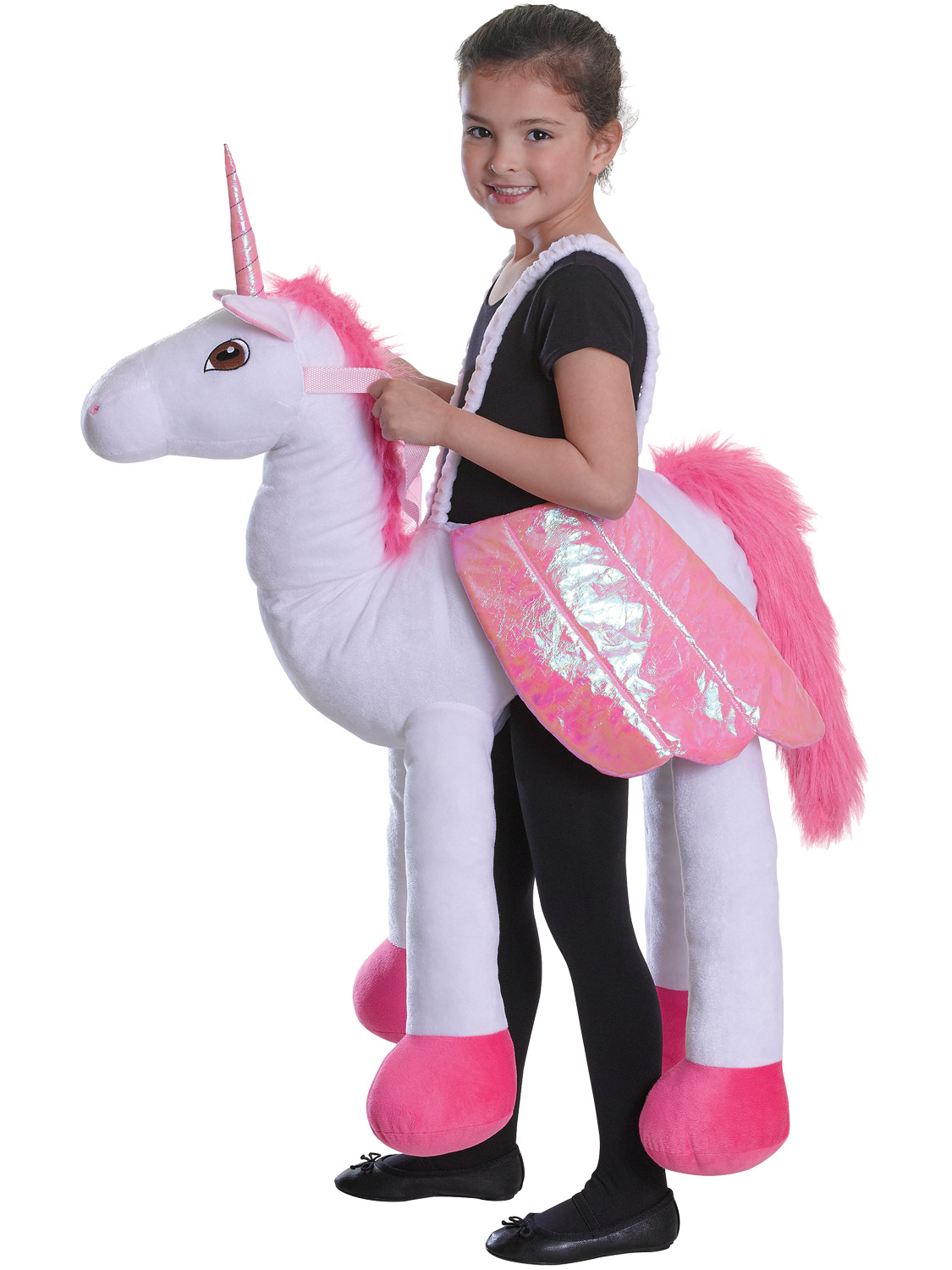 Childs Riding Unicorn Costume Girls Boys Fun Step in Animal Fancy Dress Outfit | eBay
