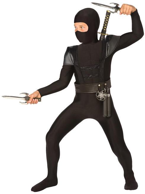 Boy's Black Ninja Costume