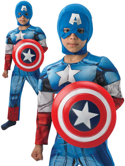 Boy's Deluxe Captain America Costume