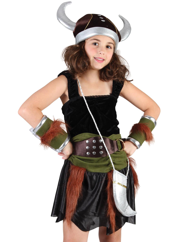 Girls Viking Costume Childs Saxon Fancy Dress Norse ...