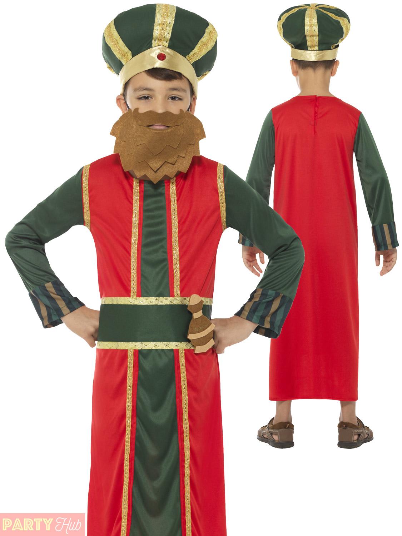 Kids King Wise Man Costume Nativity Boys Girls Childrens ...