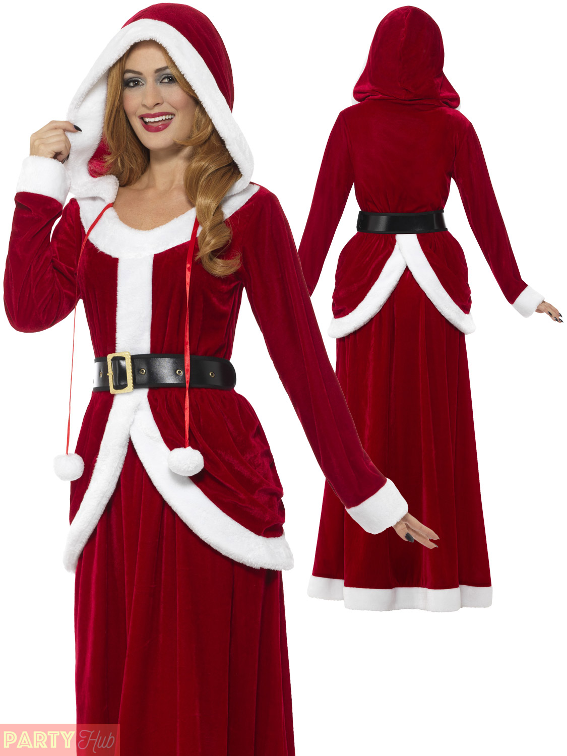 Ladies-Deluxe-Miss-Claus-Mrs-Santa-Long-Fancy-Dress-Costume-Christmas-Outfit
