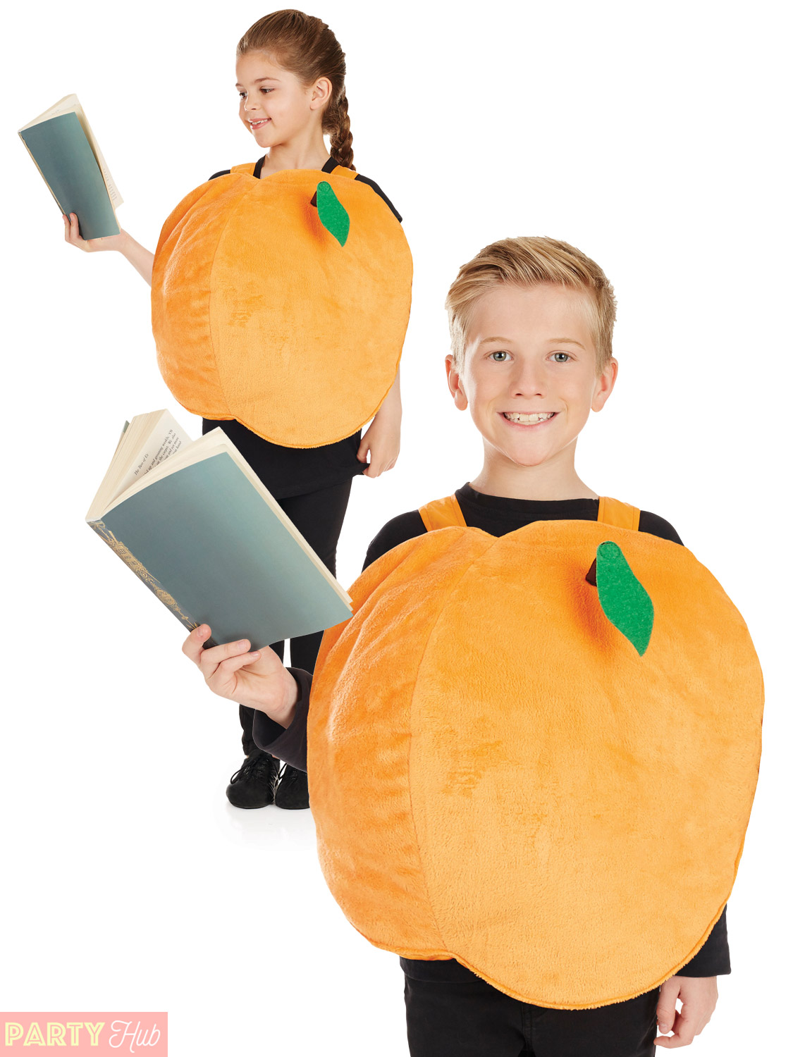 Kids-Giant-Peach-Costume-Boys-Girls-Book-Week-  sc 1 st  eBay & Kids Giant Peach Costume Boys Girls Book Week Day Fancy Dress Kids ...