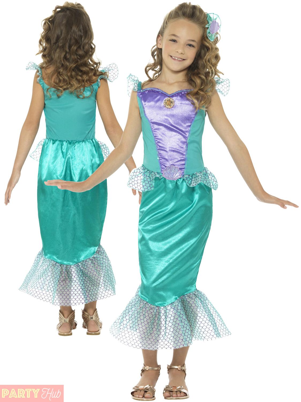 828adbd1802d Costume Mermaid Ebay & Girls-Deluxe-Little-Mermaid-Costume-Fairytale ...