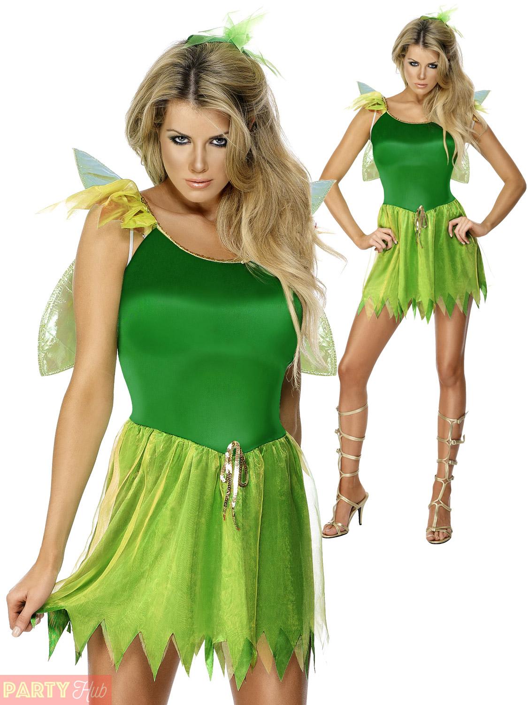 Ladies-Woodland-Fairy-Costume-Adults-Tinkerbell-Pixie-Fancy-  sc 1 st  eBay & Ladies Woodland Fairy Costume Adults Tinkerbell Pixie Fancy Dress ...